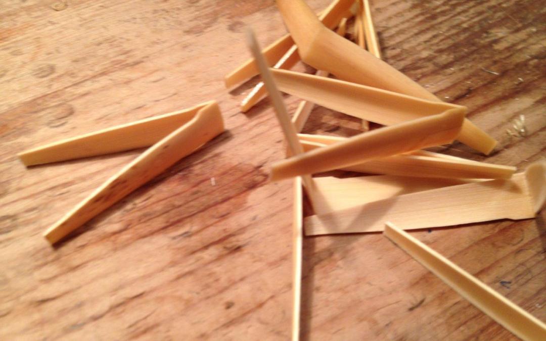 Gouged Shaped Folded Cane